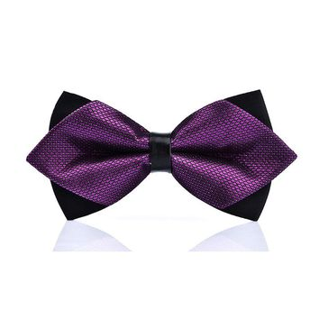 High-grade newest butterfly knot men's accessories bow tie black red cravat formal commercial suit wedding ceremony