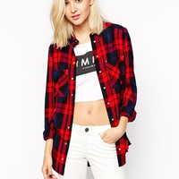 River Island | River Island Red Check Shirt at ASOS