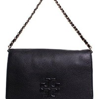 Tory Burch Thea Textured Leather Fold Over Clutch Bag