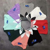 Adidas Originals Classic Trefoil Boyfriend Short Sleeve Round Collar Top T-Shirt - (8 color) I