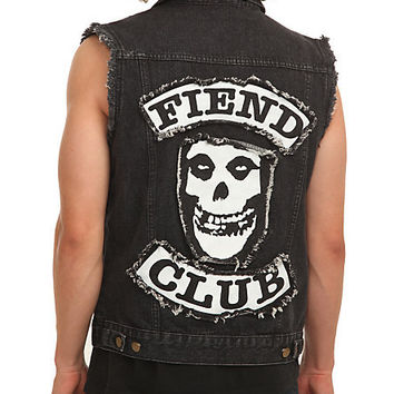 Misfits Fiend Club Denim Vest | Hot Topic