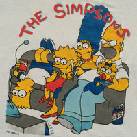 ON SALE Vintage The Simpsons Family Funny Cartoon Movie 80s 90s T Shirt