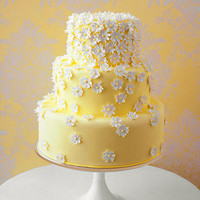Daisy Wedding Cake - Colorful Wedding Cakes - Wedding Cakes - MarthaStewartWeddings.com