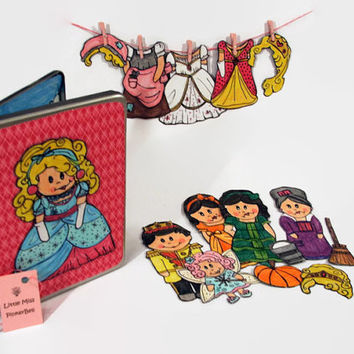 Cinderella Magnetic Paper Doll Set // Princess Toys for Girls // Birthday Gift For Girls // Preschool toy // Quiet Activity // Travel Toy