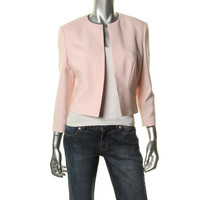 BOSS Hugo Boss Womens Jilani Cropped 3/4 Sleeves Open-Front Blazer