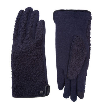 Echo - Boucle Gloves / Navy