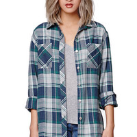 Gypsy Warrior Graphic Back Plaid Shirt at PacSun.com