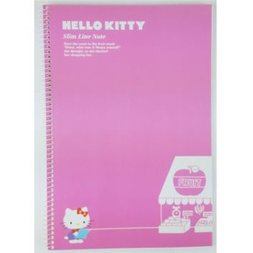 Hello Kitty Slim Line College Ruled Spiral Notebook : Pink $2.99