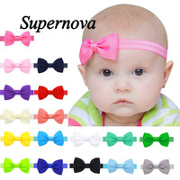 2016 Multicolor Bowknot Mini Headbands girl hair accessories baby headband cute hair band newborn floral headband S25