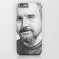 Louis CK Drawing Illustration (Square) iPhone & iPod Case by Olechka