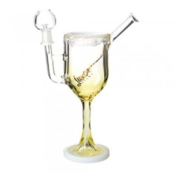 "10.5"" USA Fumed Wine Glass Rig by Luxor White 14mm"