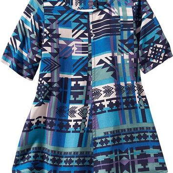 Old Navy Geometric Print Swing Dress For Baby