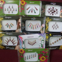 10 SHEETS SPECIAL INDIAN BINDIS WITH CRYSTALS ORNATE BINDI TATTOOS STICKERS