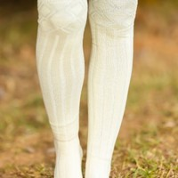 Sky Is the Limit Boot Socks-Ivory