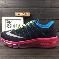 """""""NIKE"""" The new lightweight mesh running shoes sneakers Black pink"""