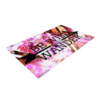"""Ebi Emporium """"Be Wild and Wander"""" Pink Woven Area Rug"""