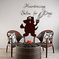 Wall Decals Grooming Salon Decal Vinyl Sticker Dog Pet Shop Home Decor Interior Design Bedroom Window Hall Art Mural Ah5