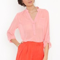 Working Girl Shorts - Coral in Clothes at Nasty Gal