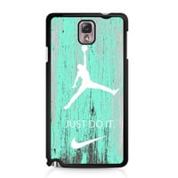 Nike Jordan Mint Wood Samsung Galaxy Note 3 case