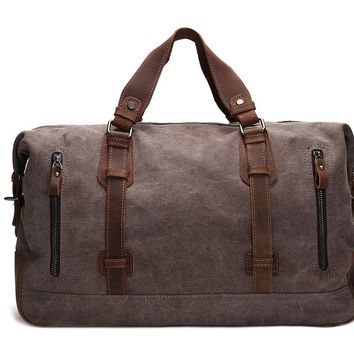BLUESEBE HANDMADE WAXED CANVAS TRAVEL DUFFLE BAG AF11