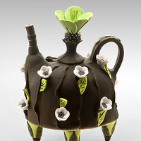 Blooming by Laura Peery: Ceramic Teapot | Artful Home