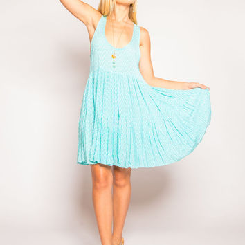 Tiare Hawaii Jamaica Dress Aqua Cairo