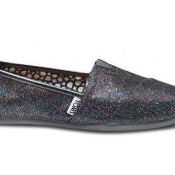 TOMS Multi Glitter Women's Classics Slip-On Shoes,
