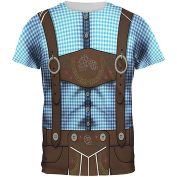 Oktoberfest Lederhosen Drinking Champion Costume All Over Mens T Shirt