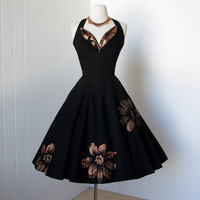 vintage 1950's dress fantastic MARCEL FASHIONS of miami by traven7
