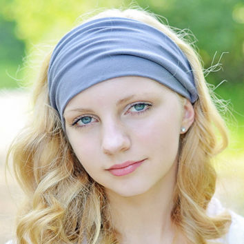 Women Lady New Korean Wide Soft Yoga Headband Stretch Hairband Elastic Sports Hair Band Girls Head Wraps Turban