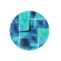 "Nina May ""Saltwater Study"" Teal BlueWall Clock"