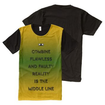 Reality Quote by Kat Worth Men's All-Over-Print T-Shirt