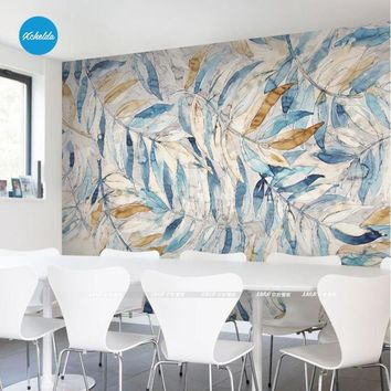 XCHELDA Custom Modern Luxury Photo Wall Mural 3D Wallpaper Papel De Parede  Living Room Tv Backdrop Wall Paper Of Cold Leaves