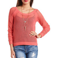 CRISSCROSS BACK OPEN KNIT SWEATER