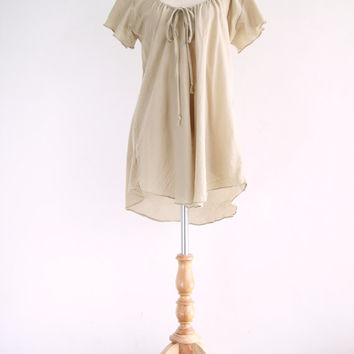 Beige Comfy Cotton Blouse