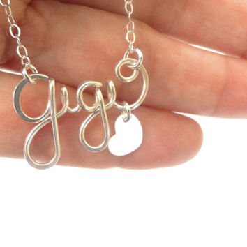 Personalized Necklace, Sterling Silver Name Necklace, Personalized Name, Nameplate, Birthday Gift Bridesmaid Gift, Maid of Honor Gift
