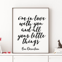 ONE DIRECTION Print Song Lyrics Minimalist Poster Room Decor Valentine's Poster One direction quote Quote Print Living Typography Printable