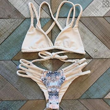 Retro Aztec Tribe Style Bikini Set Two Piece Swimwear 221