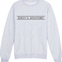 Grey's Anatomy Letter Print 2016 Women Sportswear Hoodies Loose Pullover Lady Moletons Crewneck Driving Baseball Jersey