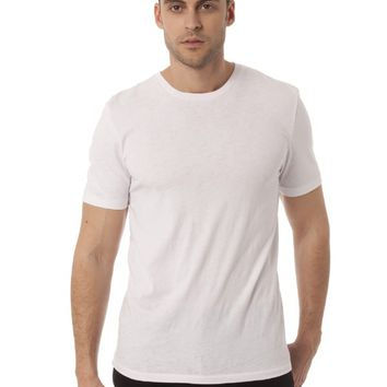 Colorfast Burnout Crew Neck Tee - White