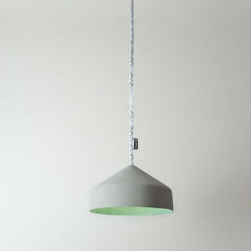 Cyrcus Pendant Light Cement, Turquoise by in-es.artdesign