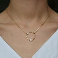 Opal Circle Necklace