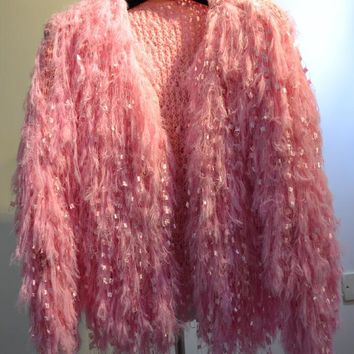 Top quality Candy color autumn Fur coats fluffy Soft sequined hairy faux fur jackets da013