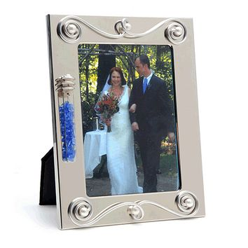 Small Jillery Wedding Glass Keepsake Photo Frame By Jill Fagin, Keepsakes In Silver Size: 5 W X 7 H