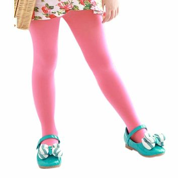Child Kids Girls Soft Velvet Pantyhose Stretchy Leg Ballet Stockings