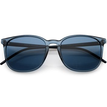Thin Everyday Lightweight Oversize Horn Rimmed Sunglasses D006