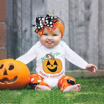 New Style Infant Toddler Baby Girls Boys Clothes Pumpkin Romper Party Halloween Clothes Jumpsuit Children's Clothing Costumes