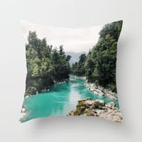 A River Runs Through It Throw Pillow by Gallery One