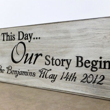Our Story Wedding Sign
