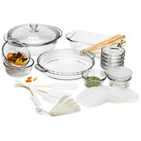 33-Piece Glass Cookware Set - Made in the USA